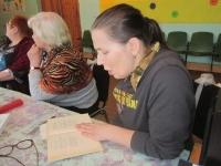 12 февраля в Княжестровском филиале собрались любители поэзии на литературно-музыкальное караоке «В горнице моей светло»