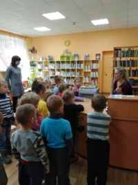 20 сентября в Центральную детскую библиотеку пришли воспитанники Уемского детского сада