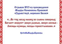Районный семейный online-конкурс «Жемчужное слово Русского Севера» – отрывок №13