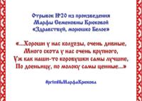 Районный семейный online-конкурс «Жемчужное слово Русского Севера» – отрывок №20